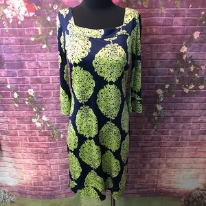 Lilly Pulitzer Newport Green Medallion Silk Dress
